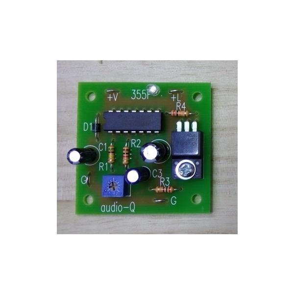 3A点滅キット完成品LED付き  LED点滅コントローラー(AQP-355F-K)★完成品 点滅スピード調整可|audioq