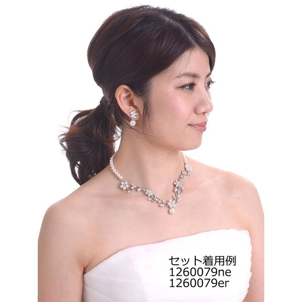フラワーイヤリング 日本製 スワロフスキー使用 花嫁 ウェディング ブライダル 結婚式