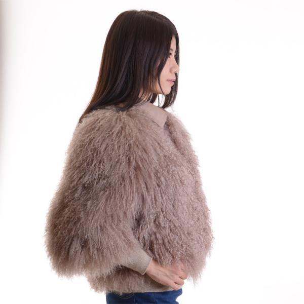 チベットラムファージャケット 毛皮コート アンバーピーチ|auro|03