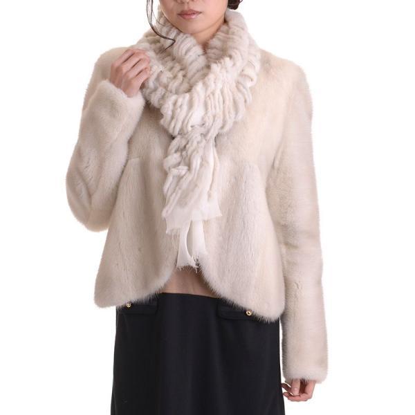 日本製バイオレットミンクジャケットコート y0002ナチュラル auro