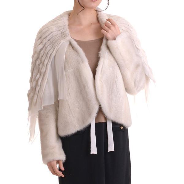 日本製バイオレットミンクジャケットコート y0002ナチュラル auro 03