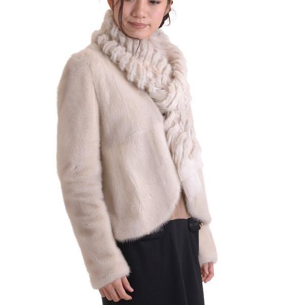 日本製バイオレットミンクジャケットコート y0002ナチュラル auro 05