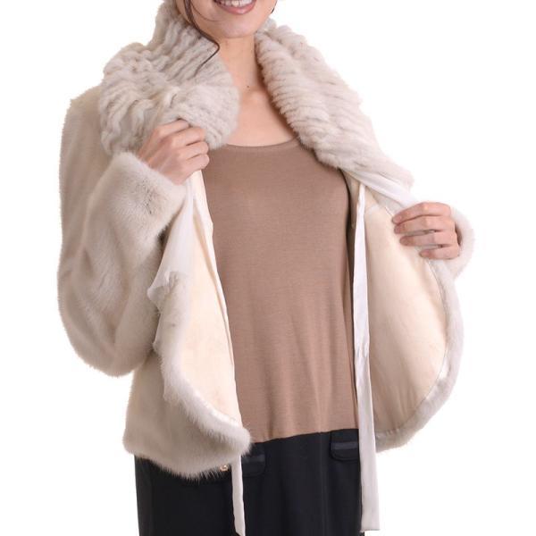 日本製バイオレットミンクジャケットコート y0002ナチュラル auro 06