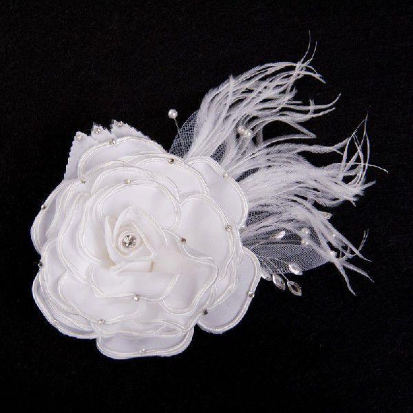 薔薇ヘッドドレス コサージュ ヘアアクセ ウェディング ブライダル 花嫁 おしゃれ