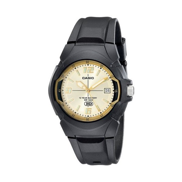 腕時計 カシオ メンズ Casio Men's 10-Year Battery Life 100m Black Resin Watch MW600F-9AV|aurora-and-oasis