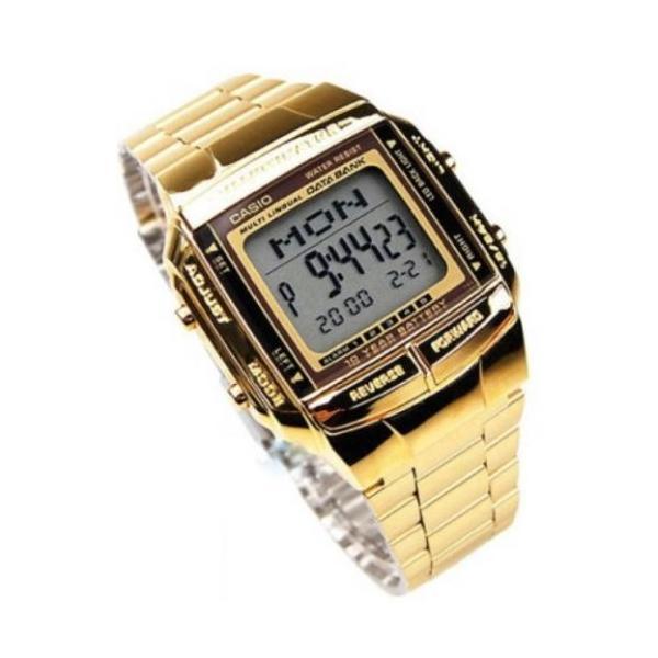腕時計 カシオ メンズ Casio Men's Gold tone Data Bank Watch DB360G-9A|aurora-and-oasis