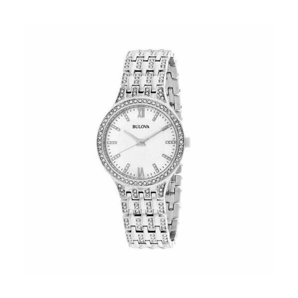 腕時計 ブローバ レディース Bulova Women's 96L242 Crystals collection Silver Quartz Watch