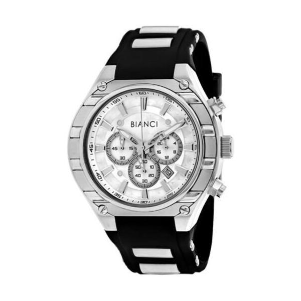 腕時計 ロベルトビアンキ メンズ Roberto Bianci Men's Ameglio Chrono 100m Stainless Steel/Silicone Watch RB54442|aurora-and-oasis