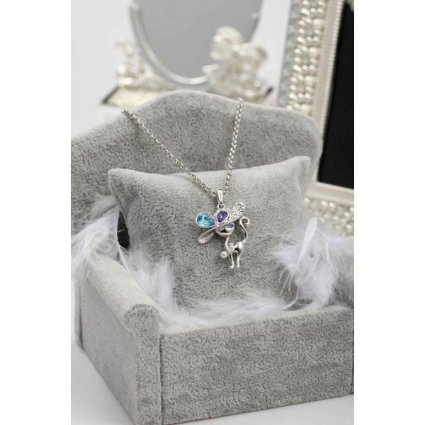 ネックレス スワロフスキー キャペリンキャット FAPPAC Simulated Pearl Cat Necklaces Enriched with Swarovski Crystal|aurora-and-oasis|02
