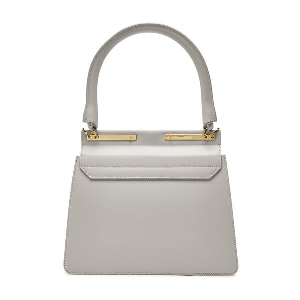 Maison Heroine メゾン ヒロイン ハンドバッグ グレー Marlene Tablet Leather and Suede Handbag|aurora-and-oasis|02
