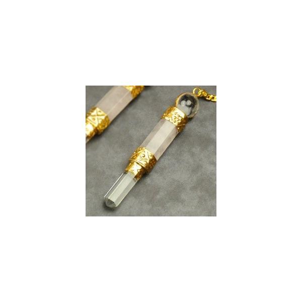ローズクォーツペンジュラム(ゴールド) フーチ 振り子 占い リーディング ペンデュラム|aurorastore