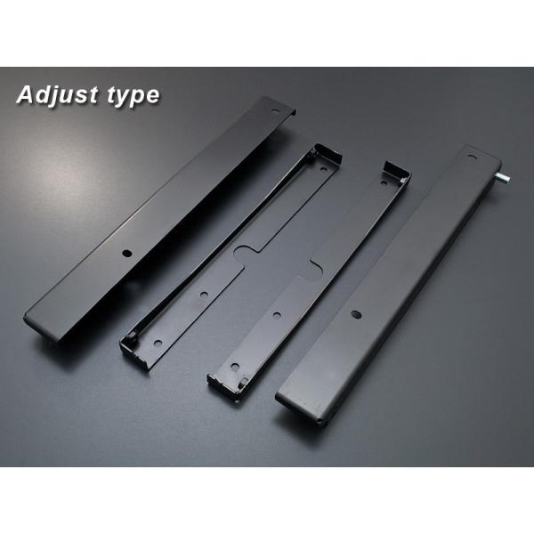 [G'BASE] ジーベース アルトワークス/HA36S 純正レカロ ローポジションアダプター アジャストタイプ 【SUZUKI ALTO WORKS [HA36S]】(左右共通品/左右セット)|auto-craft|02