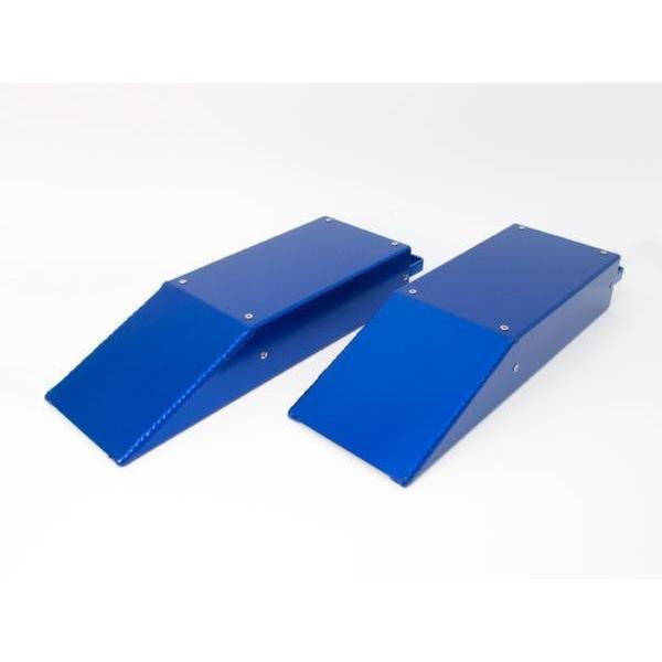 アルミスロープ / シャコタンスロープ 2個セット ブルー ローダウンスロープ 日本製