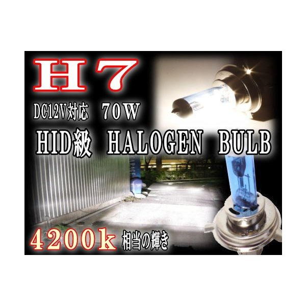 H7 ハロゲンバルブ 4200k 12V対応 100W 2個1セット 2本1set 純正交換用 車検対応 電球 ヘッドライト フォグランプ 小糸製作所 PIAA ホーム等で適合検索可能 automaxizumi