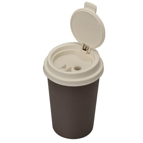 灰皿 カフェカップ型 自然消化タイプ 灰捨て簡単 大容量 グリーン セイワ W823|autorule
