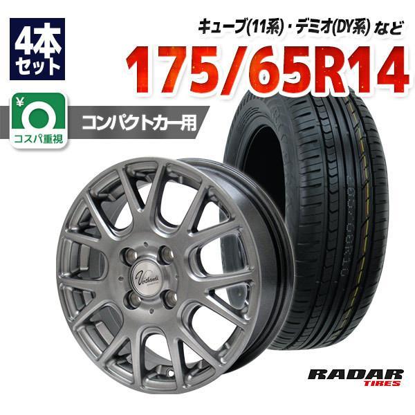 175/65R14サマータイヤホイールセットRadarRiveraPro24本セット