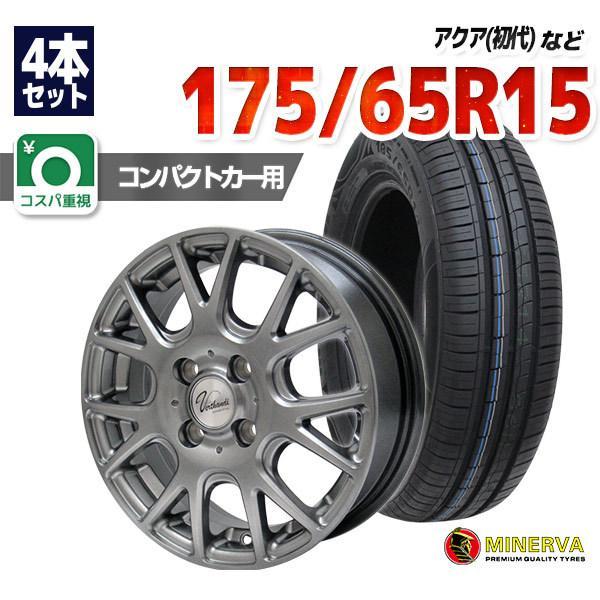 175/65R15サマータイヤホイールセットMINERVA2094本セット