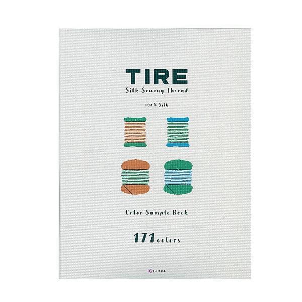 【フジックスFUJIX】タイヤー171色 絹糸見本帳絹ミシン糸・絹手縫い糸◆◆【C1-2】U-OK