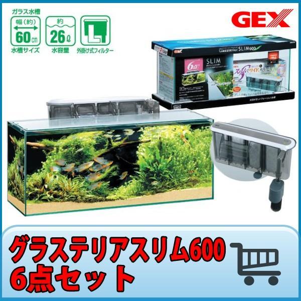 【大型】 GEX グラステリアスリム 600  6点セット 『ガラス水槽セット』 avaler