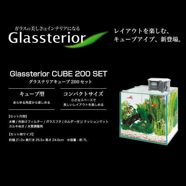 GEX グラステリアキューブ200セット『ガラス水槽セット』|avaler