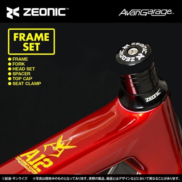 【2019年1月納品】ZIONIC社製 シャア専用ロードバイク カーボンフレームセット|avangarage|05