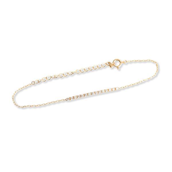 ブレスレット レディース K18 ゴールド ダイヤモンド ギフト プレゼント 「Dear Line」