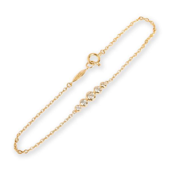 ブレスレット ダイヤモンド ダイヤ レディース グラデーション 18k 18金 K18 ゴールド 女性 ギフト プレゼント 「Verdun」