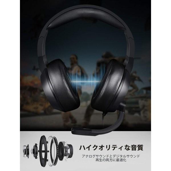 送料無料 ブルー N11 ヘッドセット ヘッドホン ヘッドフォン マイク付き PC ps4対応 密閉型 高音質 有線 遮音 5.1 パソコン スカイプに対応 AAV-159a