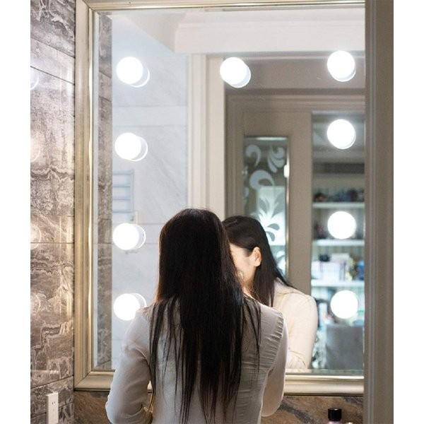 SALE&送料無料 女優ライト ミラーライト ドレッサーライト メイクアップ 化粧鏡 10個LED電球 USB給電 浴室鏡 化粧鏡 ライト ASK-042|avenir7