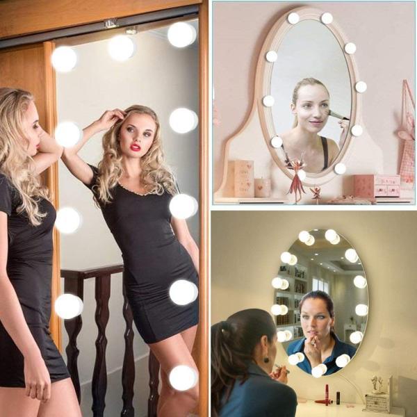 SALE&送料無料 女優ライト ミラーライト ドレッサーライト メイクアップ 化粧鏡 10個LED電球 USB給電 浴室鏡 化粧鏡 ライト ASK-042|avenir7|04