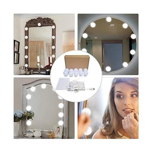 SALE&送料無料 女優ライト ミラーライト ドレッサーライト メイクアップ 化粧鏡 10個LED電球 USB給電 浴室鏡 化粧鏡 ライト ASK-042|avenir7|08