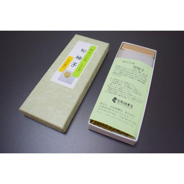冬至柚子お香浴 お線香 アロマ 柚子精油のお香「旬柚子40g」|awaji-baikundou|02