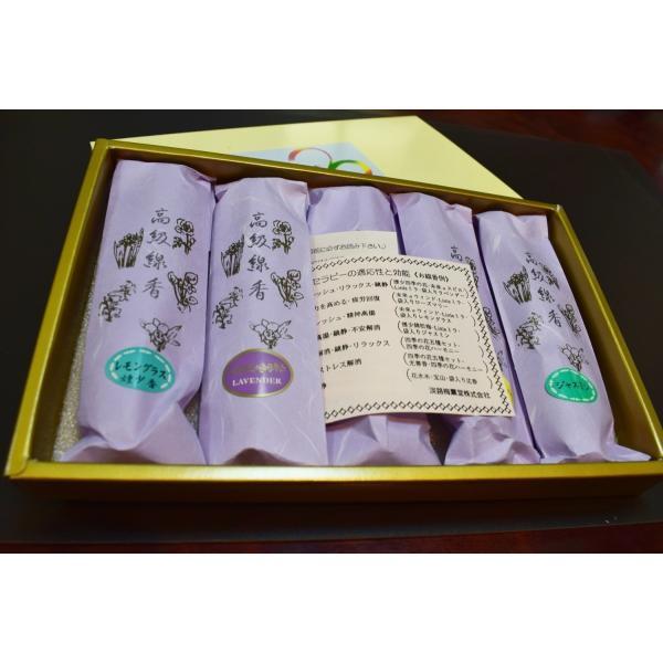 お線香贈答用 お供え線香 お線香の詰め合わせ ギフト用線香 五種セット袋入 awaji-baikundou 05