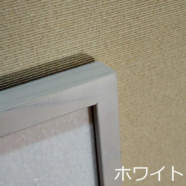 手ぬぐい額 ホワイト・淡路島の額縁職人が全て手作業で製作した純国産の木製の額縁|awajigaku|02