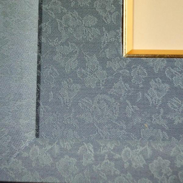 黒檀仕上げ皇居受章記念写真額半切サイズ  重厚感たっぷりに仕上げた額縁です。|awajigaku|03