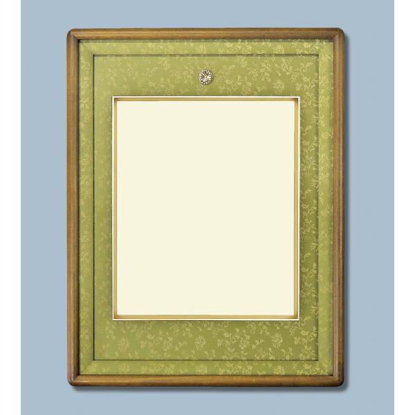 チーク仕上げ皇居受章記念写真額四つ切サイズ  和室、洋室、どちらにもピッタリな額縁です。|awajigaku