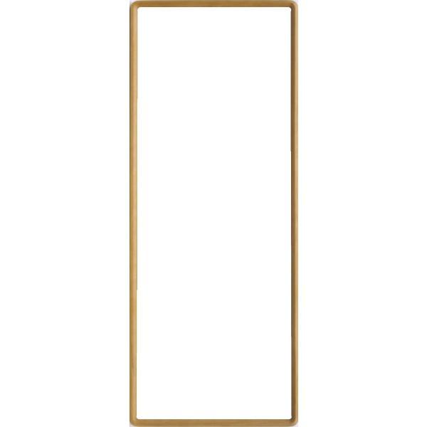 額縁 高級手ぬぐい額(角丸) 木地 (890×340) アクリル仕様 9755|awajigaku