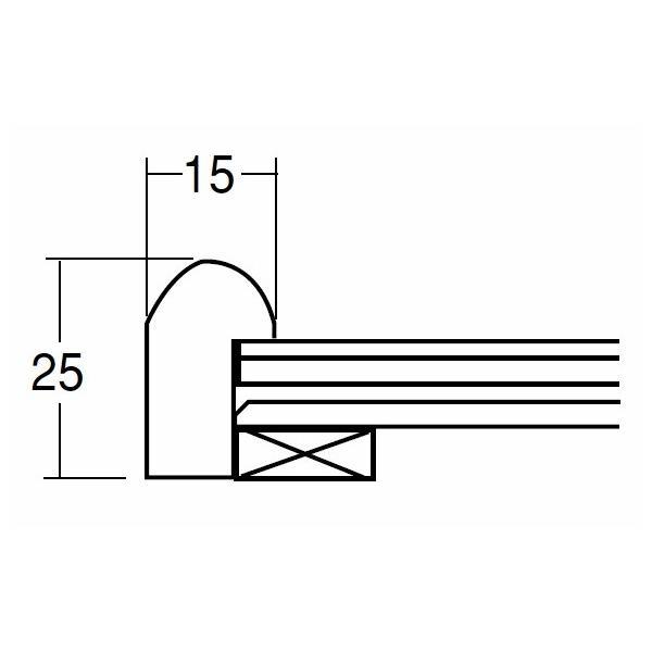 額縁 高級手ぬぐい額(角丸) 木地 (890×340) アクリル仕様 9755|awajigaku|03