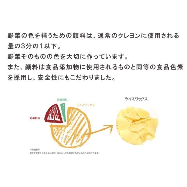 クレヨン 安全 子供 食べても大丈夫 おやさいクレヨン Standard 10色 mizuiro プレゼント 誕生日 二歳 三歳 四歳 入園 入学 ラッピング 送料無料|awajikodawari|13