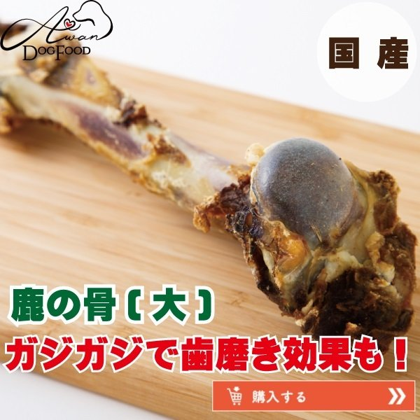 鹿の骨(大) (鹿 デンタルケア 骨 犬のおやつ 熊本県 国産 エーワン ベニソン)|awan