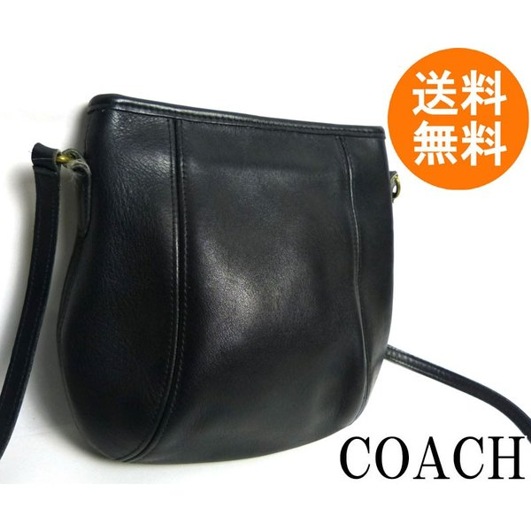 4669b1324676 USA製オールドコーチ OLD COACH レザーショルダーバッグ (黒/ブラック)【中古 ...