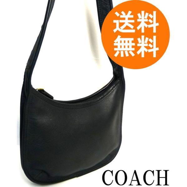 82ff3ac4b18c USA製オールドコーチ OLD COACH レザーショルダーバッグ (黒/ブラック ...