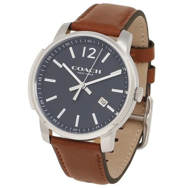 3ecce1c89463 ブラウン 腕時計 コーチ ネイビーブルー 14602004 メンズ シルバー COACH