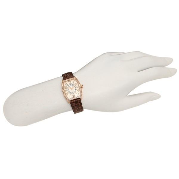 FRANCK MULLER 腕時計 レディース フランクミュラー 1752QZRELD SLV BRW 5 シルバー ローズゴールド ブラウン