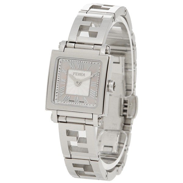 フェンディ 腕時計 レディース FENDI F605027500 ピンクパール シルバー