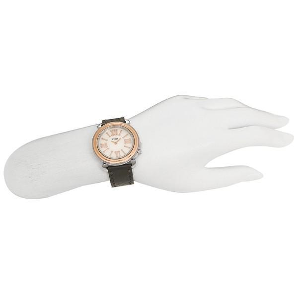 [5%offクーポン] フェンディ 腕時計 レディース FENDI F8012345H0+SSN18R06S ブラック/ローズゴールド