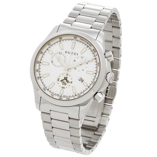 reputable site 5f925 c9fa8 「P10%還元 9/16 20~24時マデ」 グッチ 腕時計 メンズ GUCCI YA126472 ホワイト シルバー