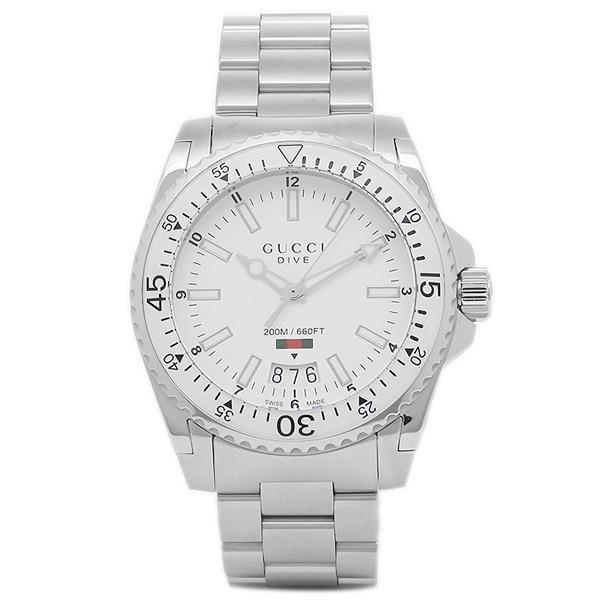 online retailer bfad5 f2085 「P10%還元 9/15 0~24時マデ」 グッチ 腕時計 メンズ GUCCI YA136302 ホワイト シルバー