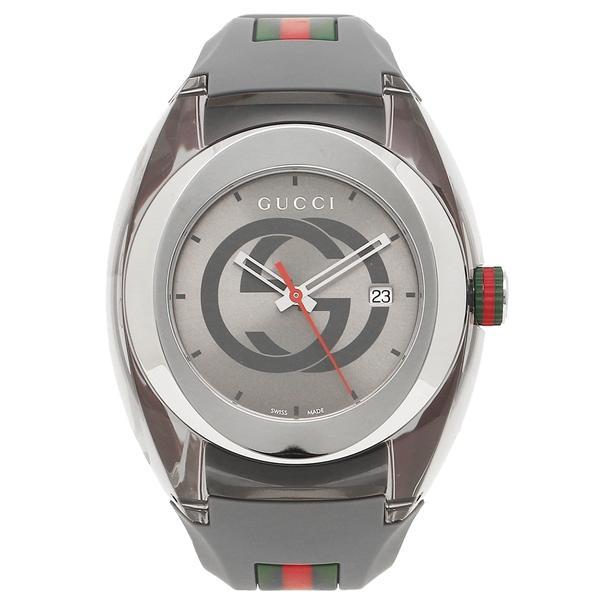 グッチ 時計 メンズ/レディース GUCCI YA137109 グレー シルバー|axes