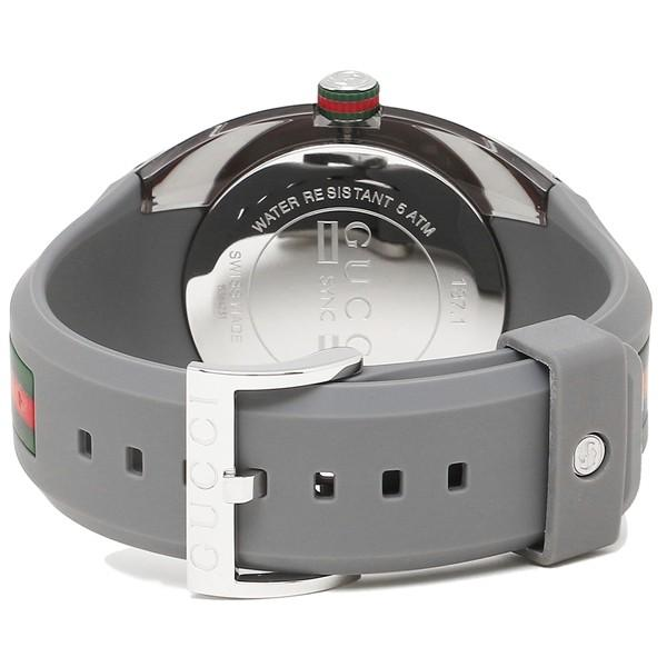 【20:00〜23:59までP10倍】 グッチ 時計 メンズ/レディース GUCCI YA137109 グレー シルバー|axes|02